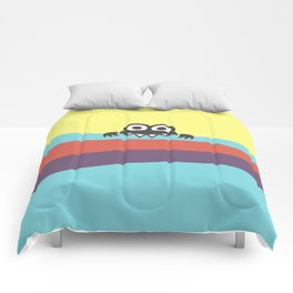 Yummy Colorful Stripes Cute Cartoon Character Comforters