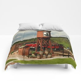 Water Tower Of The Black Hills Central Railroad Comforters