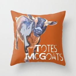 """Totes McGoats!"" ~ Nigerian Dwarf Goat Pop Art Photography!  Gotta Love the Goaty-Woaties! Throw Pillow"