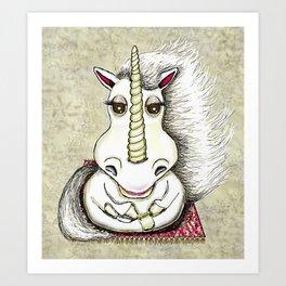 Zen Unicorn Art Print