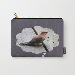 Beautiful Waxwings II-Birds Carry-All Pouch
