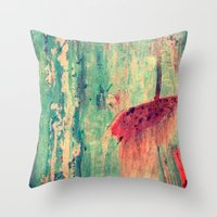 chaos Throw Pillows featuring Chaos by Claudia Drossert