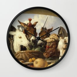 Edwin Landseer- A Group Of Animals, Geneva Wall Clock