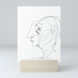 He looked older from the side Mini Art Print