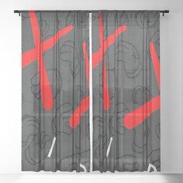 kaws xx air Sheer Curtain
