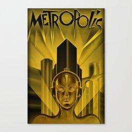 "Vintage 1927 ""Metropolis"" Movie Lithograph Advertisement Poster Canvas Print"