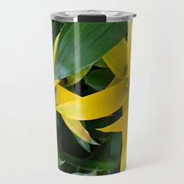 Yellow guzmania tropical flower Travel Mug