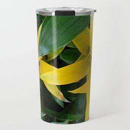 Yellow guzmania tropical flower Travel Mug