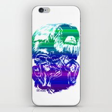 Monkeys in living Color iPhone & iPod Skin