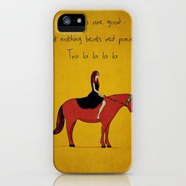 Red Pony iPhone Case