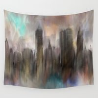 skyline Wall Tapestries featuring Skyline by Rafael&Arty