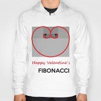 fibonacci Hoodies featuring Happy Valentine´s Fibonacci by Solar Designs