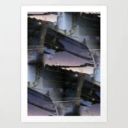 Reflections on brand new gondola windows Art Print