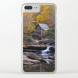Glade Creek Grist Mill in Autumn II Clear iPhone Case