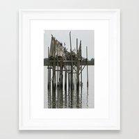 postcard Framed Art Prints featuring postcard by Jean Tenhulzen
