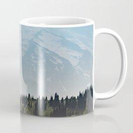 Epic Forest Mountain Adventure - Mount Rainier National Park Coffee Mug