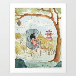 Queenie Bee Art Print