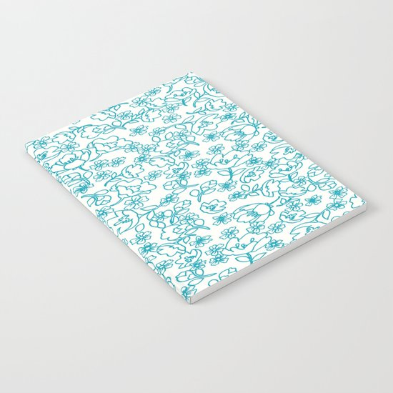 Turquoise Flowers Notebook