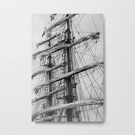 Sailing Ship black and white photo 2 Metal Print