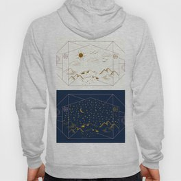 Day and Night Landscapes Hoody
