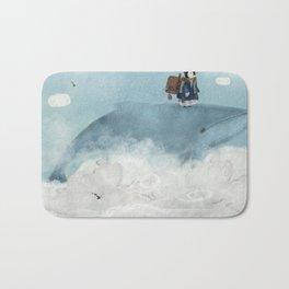 the little explorer and the big blue whale Bath Mat