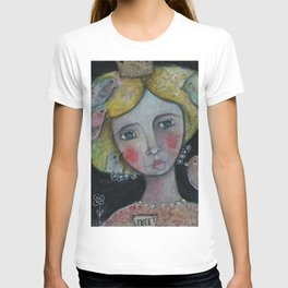 Lady with Flying Thoughts T-shirt
