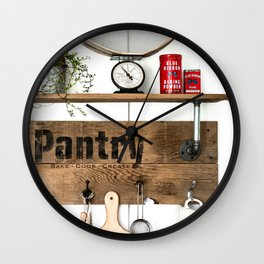 Pantry Shelf Wall Clock