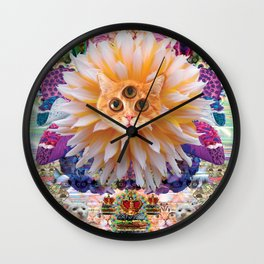 Cats of the internet dimension Wall Clock