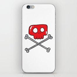 Cute little pirate sign iPhone Skin