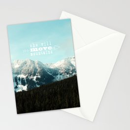 she will move mountains Stationery Cards