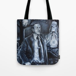 H.P.Lovecraft in Cemetery Tote Bag