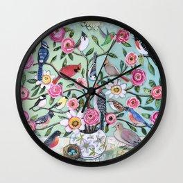 Bird Vines Wall Clock