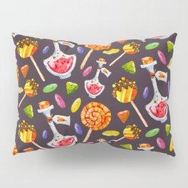 Watercolor Halloween Candy Pattern Pillow Sham