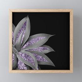 Agave Finesse Glitter Glam #3 #tropical #decor #art #society6 Framed Mini Art Print