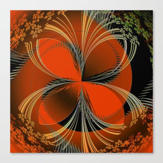 Vision In Orange Canvas Print
