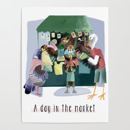 A day in the market Poster
