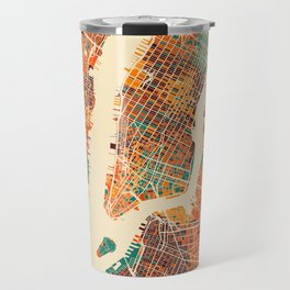 New York Mosaic Map #2 Travel Mug