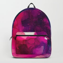 Bright Pink, teal, purple alcohol ink ethereal Backpack