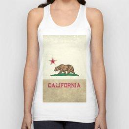 Vintage California Flag Unisex Tank Top