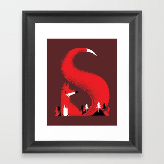 S like fox Framed Art Print