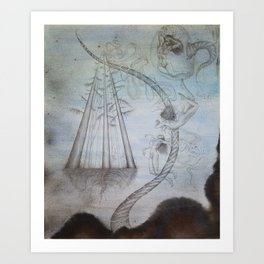 Unconscious Tether--Fractured Symbiosis Art Print