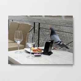 Time to lunch Metal Print