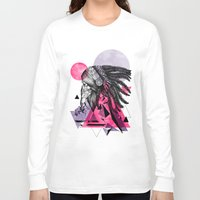 indian Long Sleeve T-shirts featuring Indian by Marlon Hammes