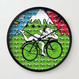 Bicycle Day Blotter Art Wall Clock
