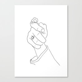 Alas, poor Sparrow! | Black on White Canvas Print