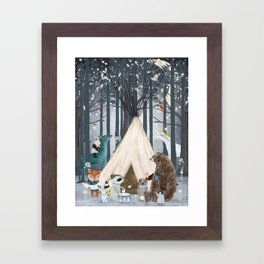 little tipi Framed Art Print