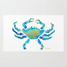 Craggy Blue Crab Rug