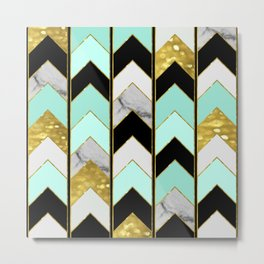 Chevron Lights Metal Print