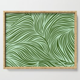 Floating lines: Green Serving Tray