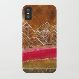 Lines in the mountains 01 iPhone Case